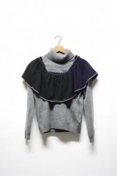 「NEBULAVO」cashmere frill tops #1 (lady)