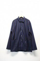 「modem design」stripe shirts jacket -nav-(men&lady)