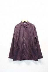 「modem design」stripe shirts jacket -win-(men&lady)