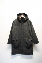 「QUOLT」tweed hood coat (men)