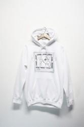 「Trevena Glen Farm」sweat parka -white-
