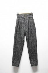 「NEBULAVO」tweed 2tac pants -black mix- (lady)