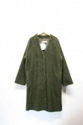 「a hope hemp」boa wide coat -olive- (lady)