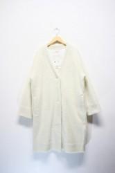「a hope hemp」boa wide coat -white- (lady)