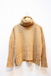 ★40%OFF★「NEBULAVO」 Suri Alpaca Turtle Knit -camel-