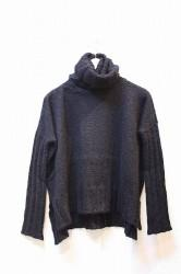 ★SALE30★「NEBULAVO」 Suri Alpaca Turtle Knit -black-