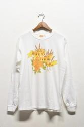 「HAVE A GRATEFUL DAY」L/S Tee -barley rose-