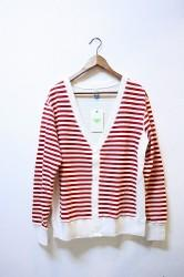 ★SALE70★ 「PhateeWEAR」 BORDER CARDIGAN -red- Sサイズ