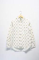★50%OFF★「phateeWEAR」 flat shirts -pizza white-