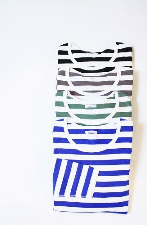 「maillot」 border long sleeve tee (mens&ladys)