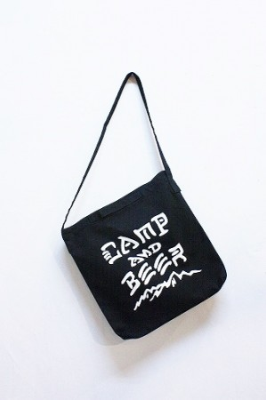 「HEADYS」C&B 2way canvas bag -black- (men&lady)