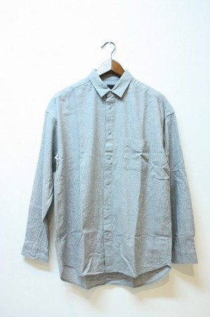 「maillot」 nel snap relax shirt -gray- (men&lady)