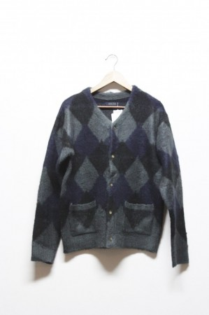 「modem design」knit cardigan -black- (men)